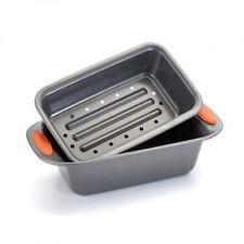 Rachael Ray Oven Lovin' NonStick 2Piece Meatloaf Pan Set, Orange