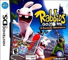 Rabbids Go Home (Nintendo DS, 2009) Manual Included