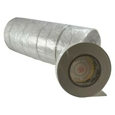 """10 Rolls White PVC Insulated Electrical Tape - 3/4"""" x 50' FT x 7 MILL UL Listed"""