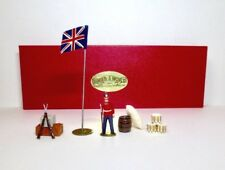 DORSET Lead Toy Soldier Set LINE INFANTRY GUARD CAMP SET WITH FLAG Britains
