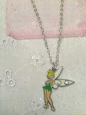 Tinkerbell Girls Charm Necklace With Organza Gift Bag FREEPOST