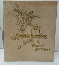 1907 Wedding Souvenir Certification Original Canandaigua NY