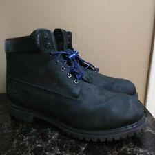 ORIGINAL 90s USA Timberland 6 Inch Classic Boots Black Leather Premium 10073 15