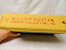 Harry Potter and The Deadly Hallows Book 1st Edition July 2007