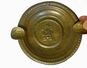 Cenicero antiguo principios siglo XX con mitología precolombina muisca