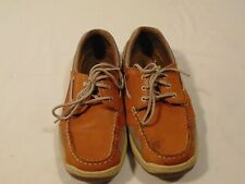 Magellan Outdoors Men's 8.5 Laguna Madre Boat Shoes FWMFMC2023 Tan Leather
