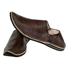 Orientalische Spitzschuhe Ledershuhe Marokko ECHT LEDER Pantoffel ALADIN Brau