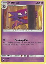 POKEMON SUN & MOON CRIMSON INVASION CARD: HAUNTER - 37/111 - COMMON