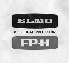 Elmo FP-H 8mm Dual Projector - Instruction Manual - PDF File