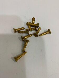 No.8 x 3/4'' Solid Brass Screws Philips Countersink Head Wood Screws-(11)