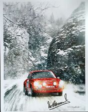Monte Carlo Rally 1968 Porsche 911 Vic Elford Victory Art poster signed by Vic