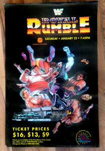 ROYAL RUMBLE 94 Rare Vintage WWE/WWF poster by the artist Tom FLEMing