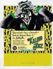 BATMAN THE KILLING JOKE RARE PROMO JOKER PIECE BRIAN BOLLAND ART ALAN MOORE 1988 Comic Art