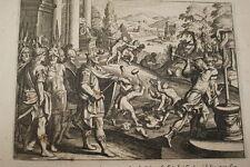 GRAVURE SUR CUIVRE LE ROY EZECHIAS-BIBLE 1670 LEMAISTRE DE SACY (B125)