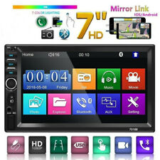 Bluetooth Car Stereo MP5 Player 7inch 2Din Touch Screen Radio Android IOS USB TF