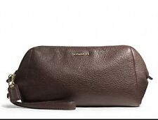 NWT Coach Madison Leather Zip Top Large Wristlet Wallet 49997 Midnight Oak NEW