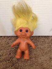 Vtg Tnt Troll Doll Figure Yellow Hair