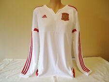 SPAIN ESPAñA WOMENS TEAM OFFICIAL LICENSED 2016 AWAY JERSEY L/S WOMENS MED NEW
