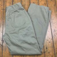 Chico's Womens 2 (Large 12) Straight Leg Pants Brown Stretch Flat Front 5 Pocket