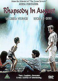 Rhapsody In August (1991) (DVD,2001) Richard Gere