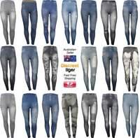 Jeggings Jeans Denim Print Leggings Designer Hot Fitted Yoga Pants Activewear