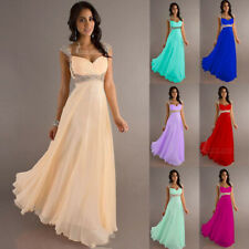 Hot Sale Chiffon Bridesmaid Dresses Cap Sleeve Prom Formal Party Evening Gown