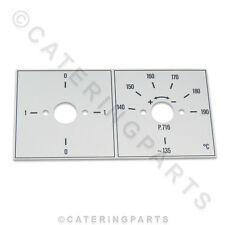 Valentine 716 friteuse commutateur & thermostat fascia plaque surround lunette P1 P2 ZENITH