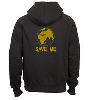 Sweat shirt noir à capuche homme zippé fruit of the loom SAVE ME