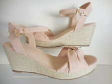 Pink Faux Suede 2 Part Sandal / Shoes Size UK 8 Wide Fit (EEE) New In Box- Evans