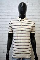 Polo a Righe Uomo LEVI'S Slim Taglia M Maglia Manica Corta Shirt Man Herrenhemd