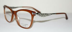 JUDITH LEIBER COUTURE DEMURE WOOD Optical Eyeglass Frame For Women ITALY