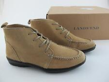 Lands End NEW Suede Leather Ankle Bootie $145 Womens 5.5 Boots Mocassins Shoes