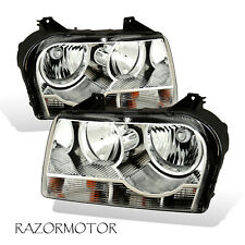For 2005-2010 Chrysler 300 Replacement Headlights Pair Included Bulbs + Socket (Fits: Chrysler)