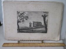 Vintage Print,WALDEN CASTLE,Essex,1789