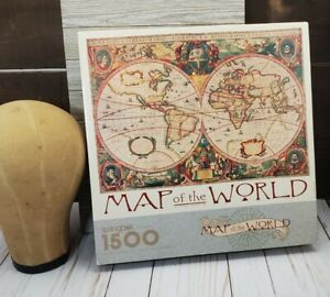Springbok Map Of The World 1500 Piece Jigsaw Puzzle 1992 Vintage