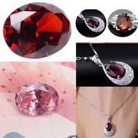 DIY Jewelry Red Ruby Pink Sapphire Oval Faceted Cut Shape Natural Loose Gemstone