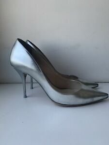 sophia webster silver pumps shoes heel 37,5 7C