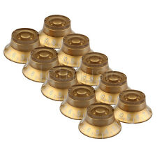 10pcs LEFT HANDED TOP HAT SPEED KNOBS / GOLD