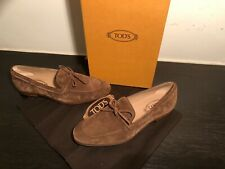 Tod's  Mens Shoes Suede Brown Loafers Uk size 7uk,Eu 41,Us 8