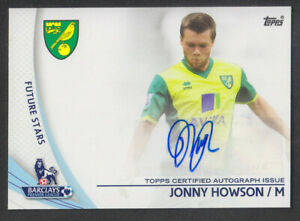 Topps Premier Gold 2013 - Future Star Autograph - Johnny Howson - Norwich