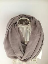 SOFT PURE COTTON LONG INFINITY SNOOD IN TAUPE/BEIGE BNWT RRP £20