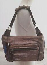 Authentic TOD'S Leder Tasche Hobo Bag Metallic Label Zipp Handtasche Sac Purse *