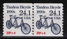 1890's Tandem Bicycle 24.1¢ mnh coil pair USA #2266 transportation series