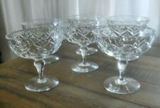VINTAGE SET 6 WEBB CORBETT CRYSTAL DESSERT BOWSL COMPORTS SWEETS DISHES