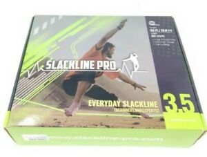 Slackline Pro 3.5 Every Day Slackline Kit 65ft Length 50mm Width Green & Black #