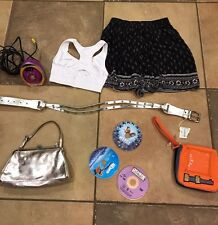 girl lot HOLLISTER M skirt roxy belt M/L GUESS metallic purse NEMO ICE AGE DVD's
