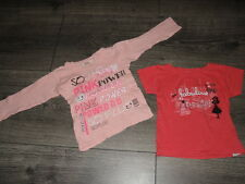 Lot 2 t-shirts 1 rose fuchsia imprimé Fabulous city girl, 1 rose Taille 3 ans