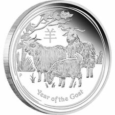 1 $ Dollar Lunar II Jahr Ziege Goat Australien 2015 PP Proof 1 Unze oz Silber