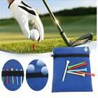 For Sports Zipper Waist Pouch Golf Tee Bag Balls Holder Small Blue Nylon YS