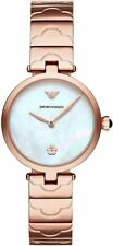 NEW EMPORIO ARMANI WOMEN AR11236 ROSE GOLD WATCH, COA- 2 YEARS WARRANTY